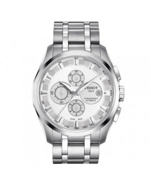Szwajcarski, elegancki zegarek męski TISSOT Couturier Automatic Chronograph T035.627.11.031.00 (T0356271103100)
