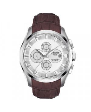 Szwajcarski, elegancki zegarek męski TISSOT Couturier Automatic Chronograph T035.627.16.031.00 (T0356271603100)
