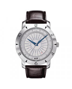 Szwajcarski zegarek męski TISSOT Heritage Navigator Automatic 160th Anniversary COSC T078.641.16.037.00 (T0786411603700)