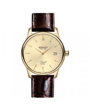 Elegancki złoty zegarek męski ATLANTIC SEAGOLD 95744.65.31 (957446531)