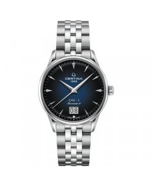 Szwajcarski, klasyczny zegarek męski CERTINA DS-1 Big Date Powermatic 80 C029.426.11.041.00 (C0294261104100)