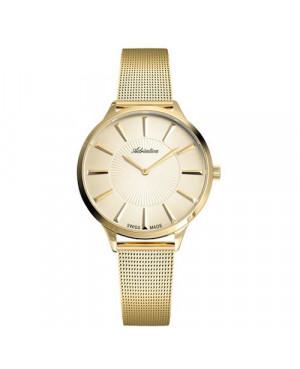 Szwajcarski, biżuteryjny zegarek damski ADRIATICA A3211.1111Q (A32111111Q).