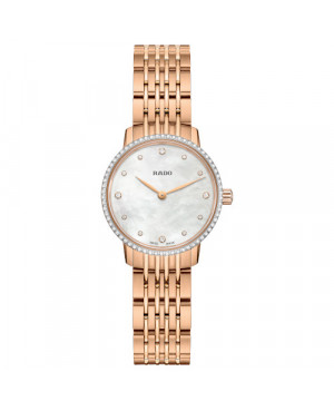 Szwajcarski  elegancki zegarek damski RADO Coupole Classic Diamonds R22896924