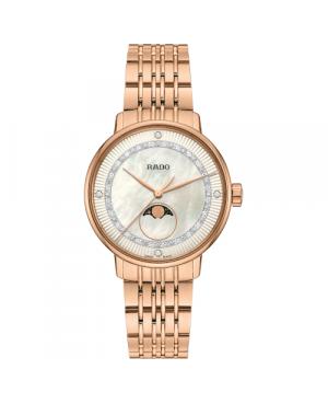 Szwajcarski elegancki zegarek damski RADO Coupole Classic Diamonds R22884963 Zegarek ze szkłem szafirowym