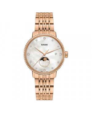 Szwajcarski elegancki zegarek damski RADO Coupole Classic Diamonds R22884923 Zegarek z szkłem szafirowym