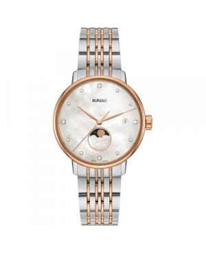 Szwajcarski elegancki zegarek damski RADO Coupole Classic Diamonds R22883923 zegarek z szkłem szafirowym