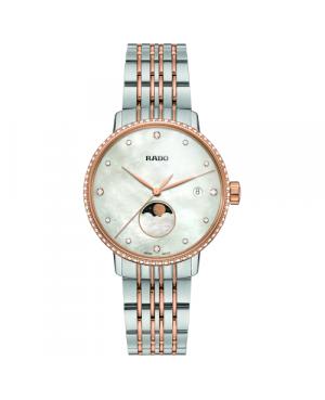 Szwajcarski elegancki zegarek damski RADO Coupole Classic Diamonds R22882923 Odporne na zarysowania szkło szafirowe