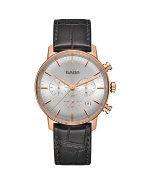 Szwajcarski klasyczny zegarek męski RADO Coupole Classic Chronograph R22911125 Odporne na zarysowania szkło szafirowe