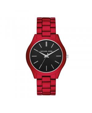 czerwony zegarek męski MICHAEL KORS Slim Runway MK8768