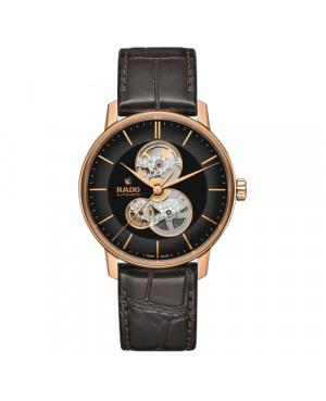 Szwajcarski klasyczny zegarek męski RADO Coupole Classic Open Heart Automatic R22895165