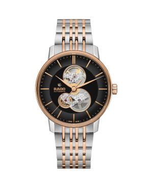 Szwajcarski elegancki zegarek męski RADO Coupole Classic Open Heart Automatic R22894163 Odporne na zarysowania szkło szafirowe