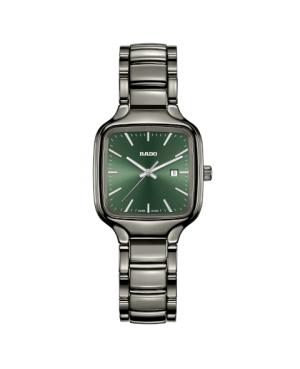 Szwajcarski elegancki zegarek damski RADO True Square R27079312 Odporne na zarysowania szkło szafirowe