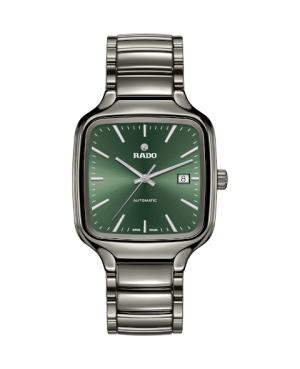 Szwajcarski elegancki zegarek męski RADO True Square Automatic R27077312 Odporne na zarysowania szkło szafirowe