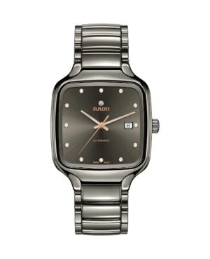 Szwajcarski elegancki zegarek męski RADO True Square Diamonds R27077702 Odporne na zarysowania szkło szafirowe