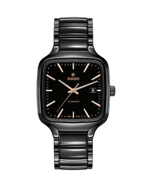Szwajcarski elegancki zegarek męski RADO True Square Automatic R27078162 Odporne na zarysowania szkło szafirowe