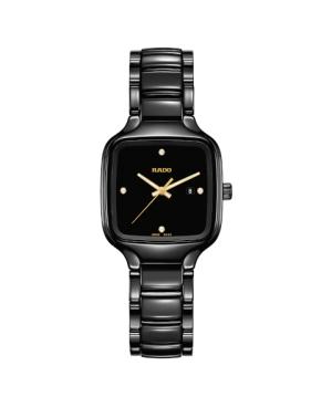 Szwajcarski elegancki zegarek damski RADO True Square Diamonds R27080722 Odporne na zarysowania szkło szafirowe