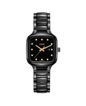 Szwajcarski elegancki zegarek damski RADO True Square Diamonds R27080702 Odporne na zarysowania szkło szafirowe