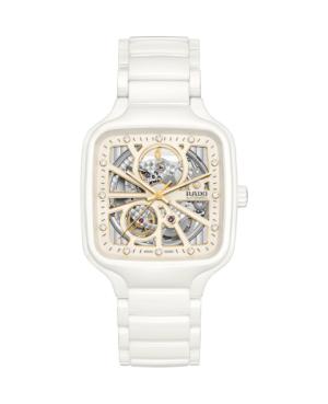 Szwajcarski elegancki zegarek męski RADO True Square Automatic Open Heart R27073702 Odporne na zarysowania szkło szafirowe