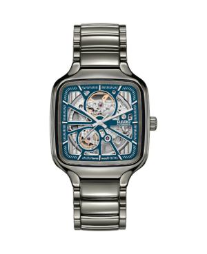 Szwajcarski elegancki zegarek męski RADO True Square Automatic Open Heart R27083202 Odporne na zarysowania szkło szafirowe