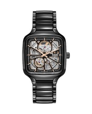 Szwajcarski elegancki zegarek męski RADO True Square Automatic Open Heart R27086162 Odporne na zarysowania szkło szafirowe