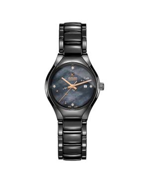 Szwajcarski elegancki zegarek damski RADO True Automatic Diamonds R27242842