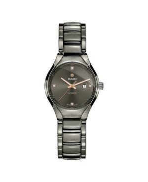 Szwajcarski elegancki zegarek damski RADO True Automatic Diamonds R27243712