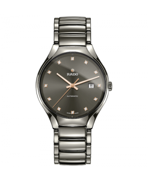 Szwajcarski elegancki zegarek męski RADO True Automatic Diamonds R27057732
