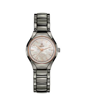 Szwajcarski biżuteryjny zegarek damski RADO True Automatic Diamonds R27243852