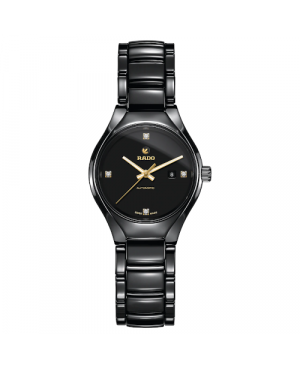 Szwajcarski elegancki zegarek damski RADO True Automatic Diamonds R27242712