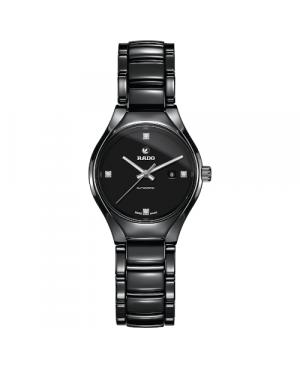 Szwajcarski elegancki zegarek damski RADO True Automatic Diamonds R27242722