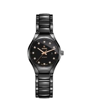 Szwajcarski elegancki zegarek damski RADO True Automatic Diamonds R27242732