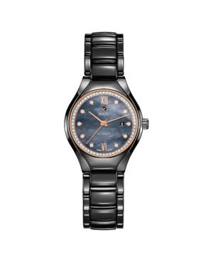 Szwajcarski biżuteryjny zegarek damski RADO True Automatic Diamonds R27242852