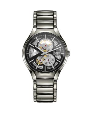 Szwajcarski elegancki zegarek męski RADO True Automatic Open Heart R27510152