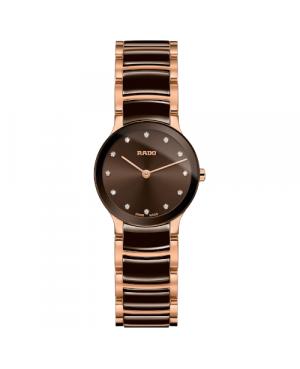 Szwajcarski elegancki zegarek damski RADO Centrix Diamonds R30190702