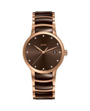 Szwajcarski elegancki zegarek męski RADO Centrix Diamonds R30554724