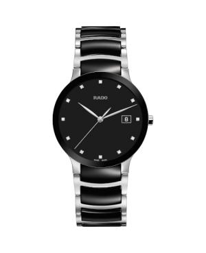 Szwajcarski elegancki zegarek męski RADO Centrix Diamonds R30934752