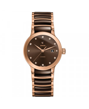 Szwajcarski elegancki zegarek damski RADO Centrix Automatic Diamonds R30183752