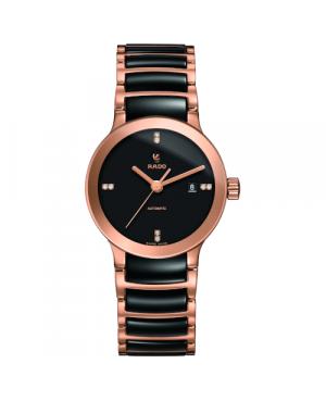 Szwajcarski elegancki zegarek damski RADO Centrix Automatic Diamonds R30183712