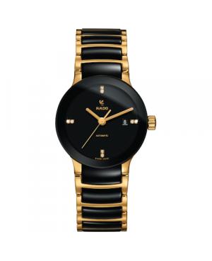 Szwajcarski elegancki zegarek damski RADO Centrix Automatic Diamonds R30034712