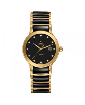 Szwajcarski elegancki zegarek damski RADO Centrix Automatic Diamonds R30080762