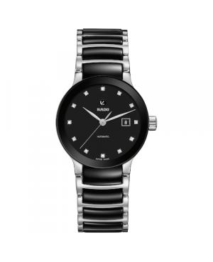 Szwajcarski elegancki zegarek damski RADO Centrix Automatic Diamonds R30009752
