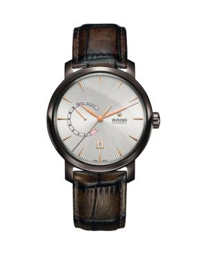 Szwajcarski elegancki zegarek męski RADO DiaMaster Automatic Power Reserve R14140026