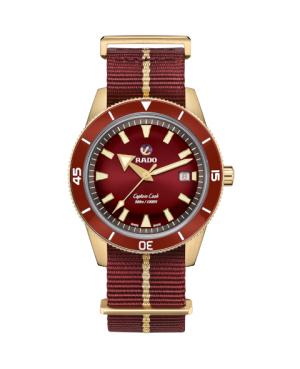 Szwajcarski sportowy zegarek męski RADO Captain Cook Automatic Bronze R32504407