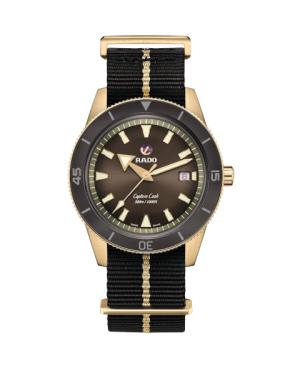 Szwajcarski sportowy zegarek męski RADO Captain Cook Automatic Bronze R32504307