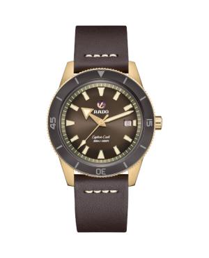 Szwajcarski sportowy zegarek męski RADO Captain Cook Automatic Bronze R32504306