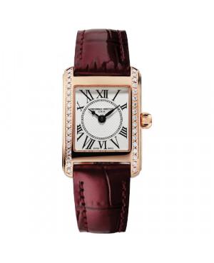 Szwajcarski elegancki zegarek damski FREDERIQUE CONSTANT Classics Carrée FC-200MCD14 (FC200MCD14)