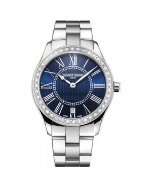 Szwajcarski elegancki zegarek damski FREDERIQUE CONSTANT CLASSICS LADIES FC-220MN3BD6B (FC220MN3BD6B)