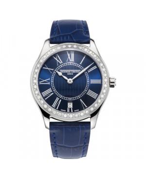 Szwajcarski elegancki zegarek damski FREDERIQUE CONSTANT CLASSICS LADIES FC-220MN3BD6 (FC220MN3BD6)