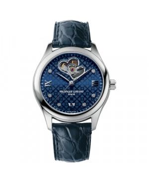 Szwajcarski biżuteryjny zegarek damski FREDERIQUE CONSTANT LADIES AUTOMATIC DOUBLE HEART BEAT FC-310NDHB3B6 (FC310NDHB3B6)