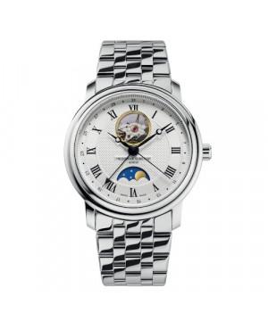 Szwajcarski elegancki zegarek męski FREDERIQUE CONSTANT Classics Heart Beat Moonphase FC-335MC4P6B2 (FC3335MC4P6B2)